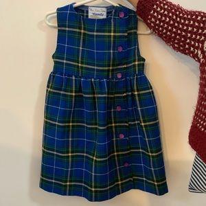 Fits 2-4T Tartan dress made in Canada!